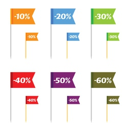 sale on flags color vector image vector image