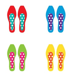 Set of Colorful Women Shoes vector image vector image