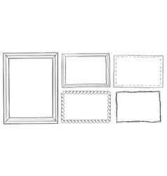 set of vintage ornamental frames hand drawn doodle vector image vector image