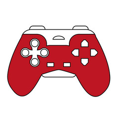 sketch color silhouette control for video games vector image