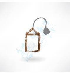Black teabag grunge icon vector image