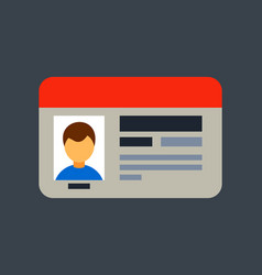 car driver license identification with photo vector image