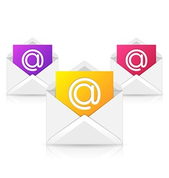 Opened Envelope with Colorful Paper Sheet vector image