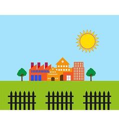 Real estate landscape vector image vector image