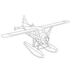 Retro seaplane vector