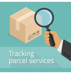Tracking parcel services vector image vector image