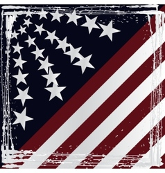 American flag grunge style vector image