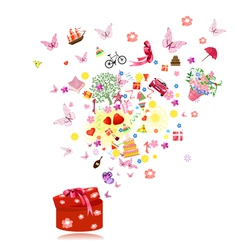 birthday gifts vector image