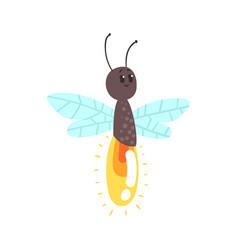 cute cartoon firefly character vector image