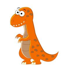 cute cartoon t-rex of vector image