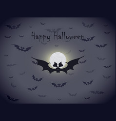 halloween bats greetings card vector image vector image