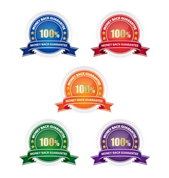 Money back guarantee badges vector image