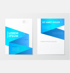 blue annual report business brochure booklet vector image