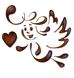 chocolate angel vector image vector image