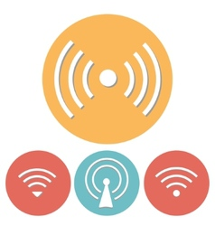 Wi-Fi Icons set of flat design vector image vector image
