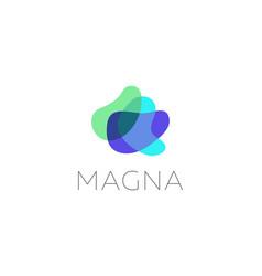 abstract colorful waves areas petals logo icon vector image