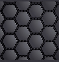 abstract geometric metallic background carbon vector image