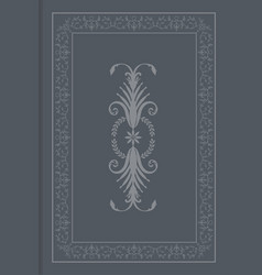 Antique cover book oriental ornaments old frame vector