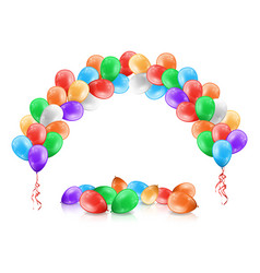 arc or garland color balloons party decoration vector image