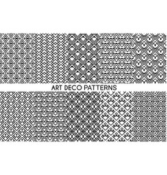 art deco patterns seamless ornament set vector image