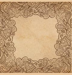 Background floral frame vector