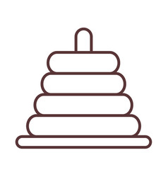 bapyramid toy object newborn template line vector image