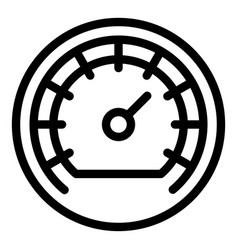 Barometer indicator icon outline style vector
