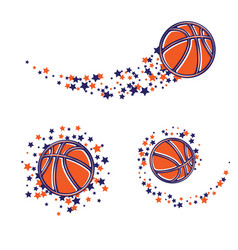 basketball star path vector image