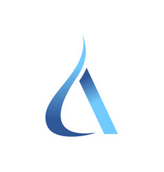 blue vapor smoke initial a letter graphic vector image