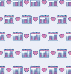 calendar and heart design vector image