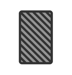 Card backwards vector