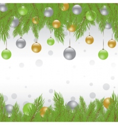 Christmas fur tree vector illustration vector image