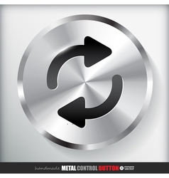 Circle metal repeat button applicated for html and vector