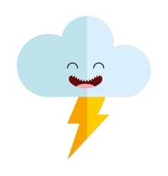 Cloud character isolated icon vector