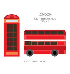 colorful london landmark 3 vector image
