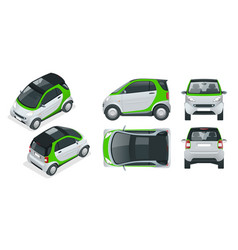 compact small car small compact hybrid vector image