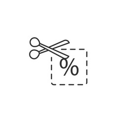 coupon discount price line icon simple modern vector image