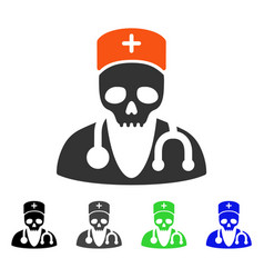Deadly doctor flat icon vector