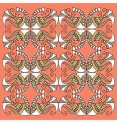 decorative fish pattern vector image