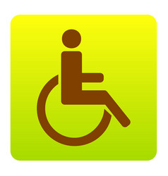 disabled sign brown icon at vector image