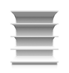 Empty supermarket shelf vector