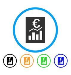 euro sale report rounded icon vector image