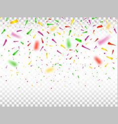 falling confetti pieces defocused colorful vector image