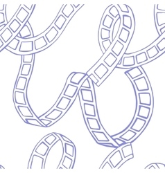 film tape doodle seamless vector image