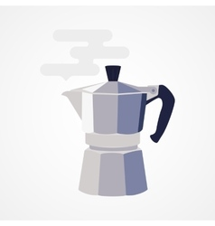 Flat design icon coffee maker vector