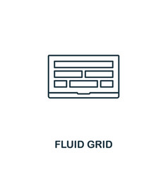 fluid grid icon thin outline style design from vector image
