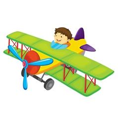 Flying boy vector
