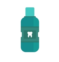 Fresh breath bottle of mouthwash vector image