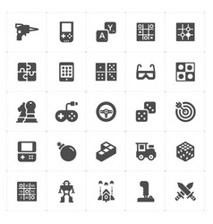 Game and toy filled icon vector
