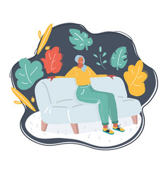 girl relaxing on a sofa vector image
